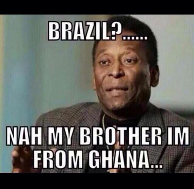 Pele Meme After Brazil Lost Against Germany Brazil Germany Brazil World Cup