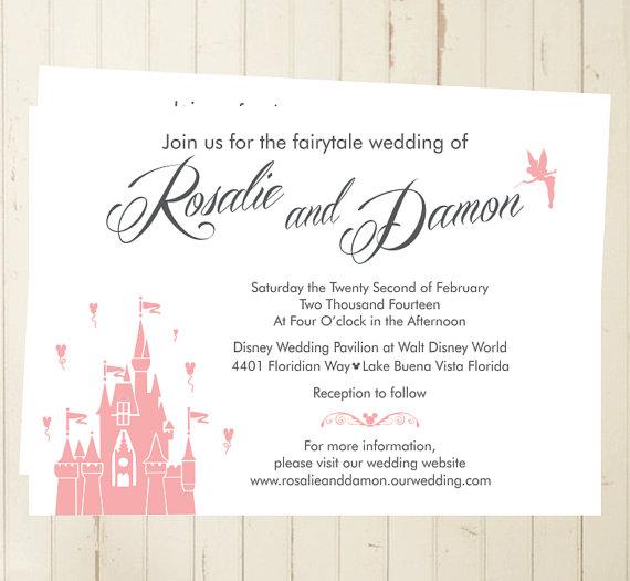 Fairytale Invitations Wedding: Fairytale Wedding Invitation Printable Castle Invite Magic