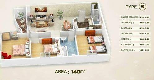 عقار ستوك - شقة للبيع بالتجمع الخامس بالتقسيط 140م بحى الاندلس