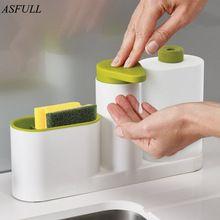 ... botella de Detergente Fregadero Dispensador de Jabón Desinfectante para  las manos para uso de Cocina Botella de Almacenamiento En Rack(China) 344be25c5110