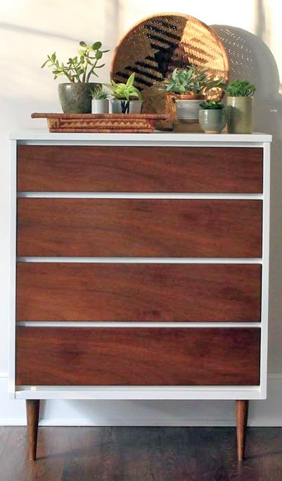 Mcm Brown Mahogany Dresser Upholstery Projects Mid Century