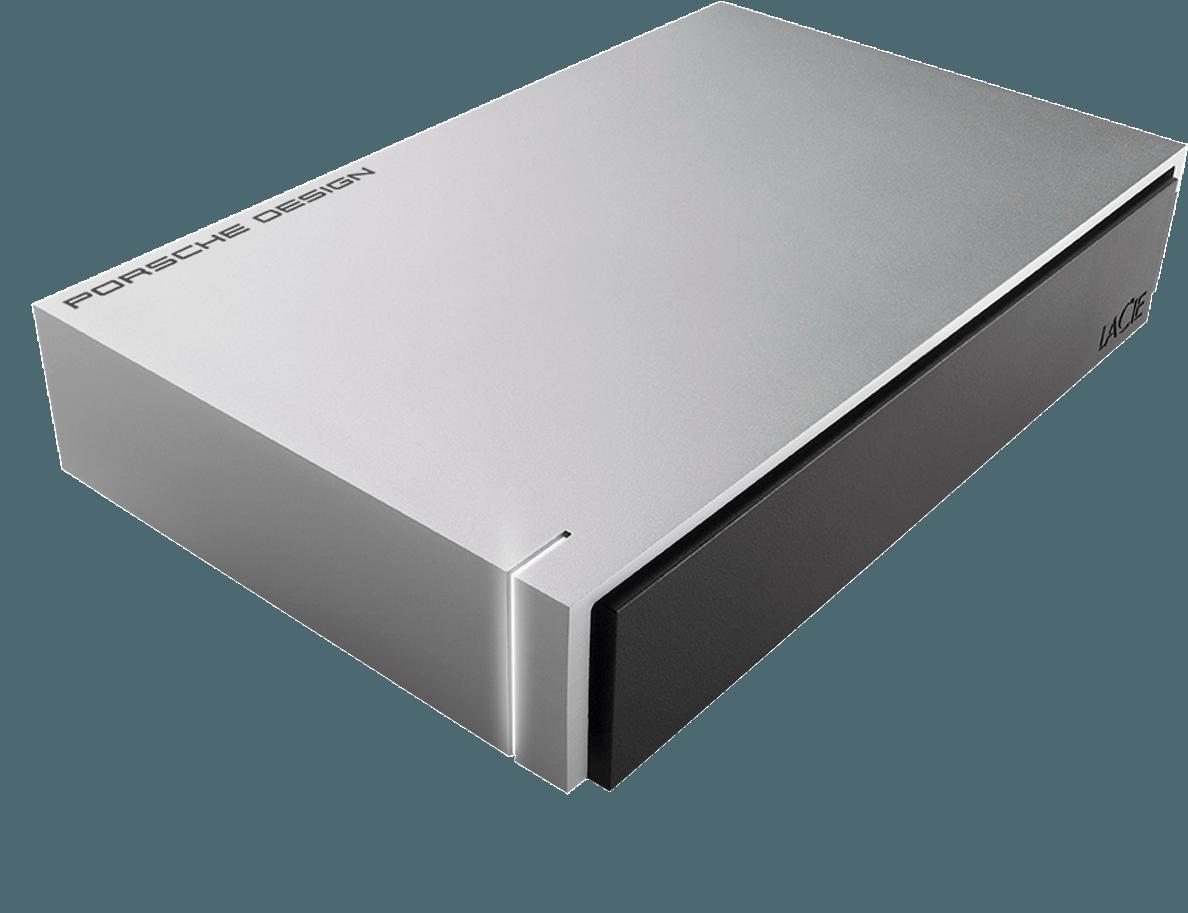 LACIE Porsche Design 8 TB 3.5 Zoll Festplatte Silber