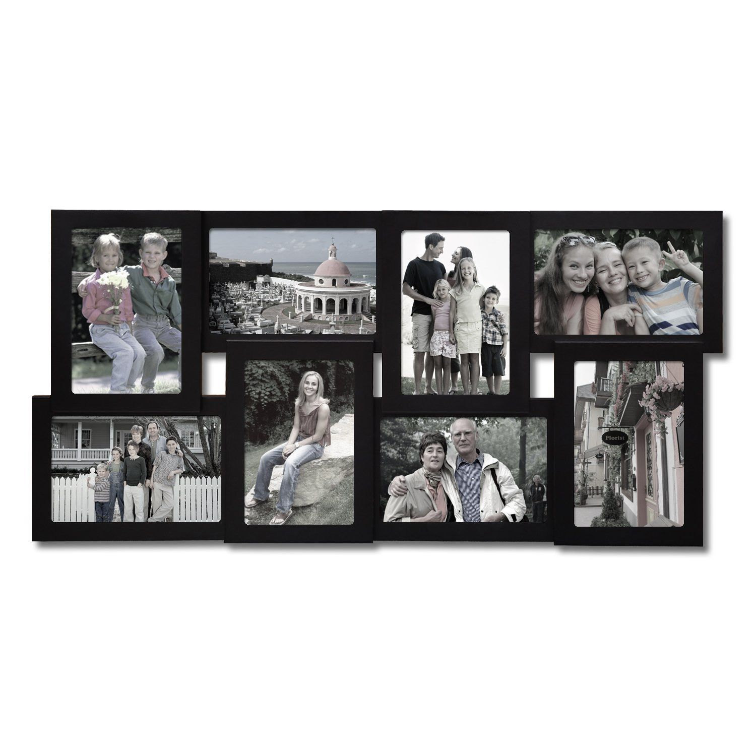 Decorative Black Wood Wall Hanging Collage Picture Photo Frame ...
