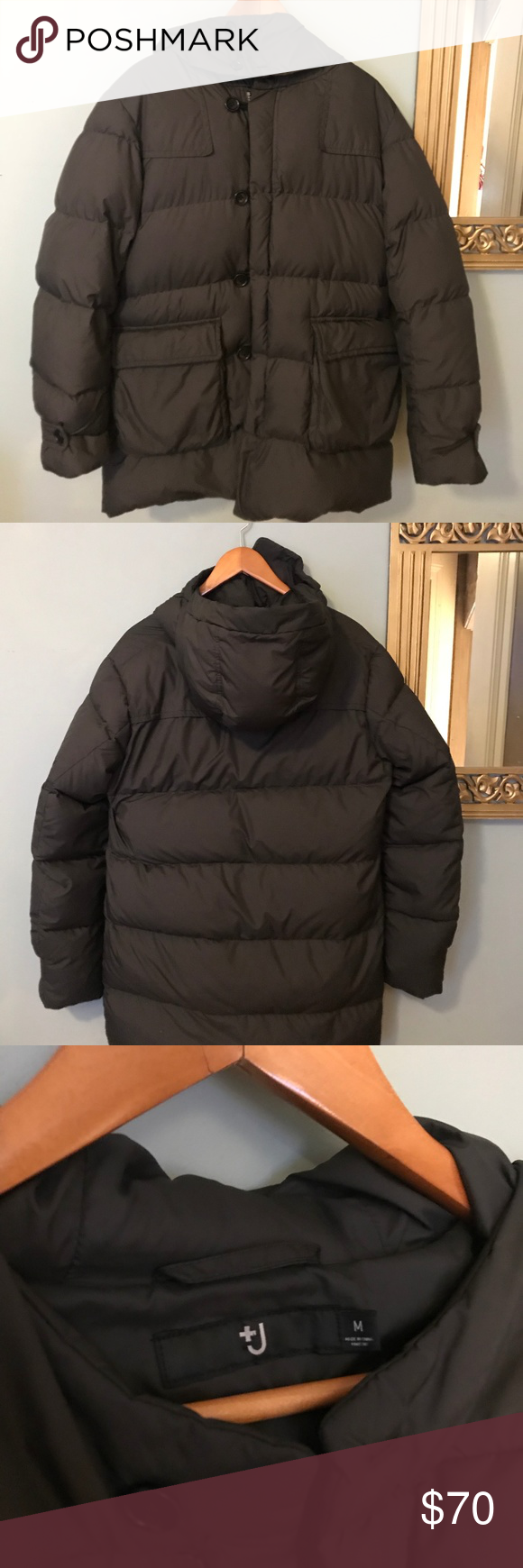 Uniqlo +J Revival M/L Gray Brown Green Puffer Uniqlo
