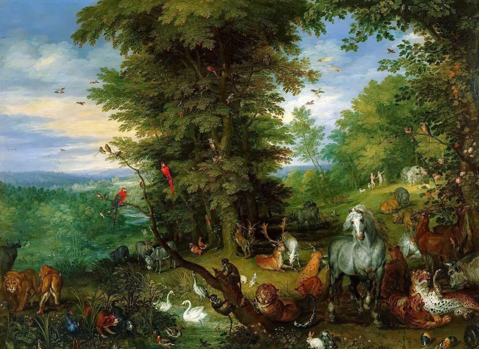 Garden of Eden.Jan Brueghel the Elder ( Dutch artist, 1568 - 1625 ...
