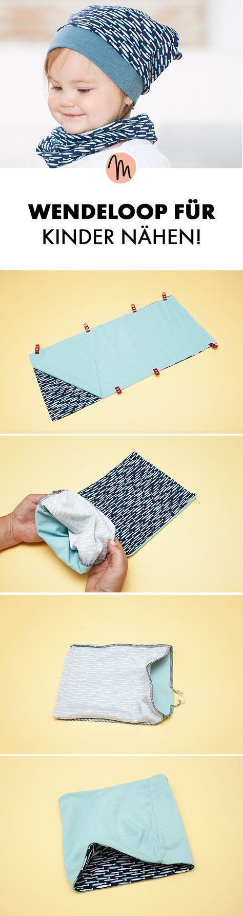 Wendeloop für Kinder nähen - kostenlose Nähanleitung via Makerist.de #clothpatterns
