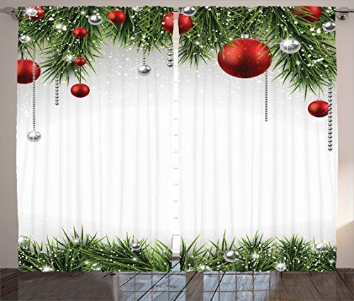 Ambesonne Christmas Curtain Panels Apartment Christmas,Best offer