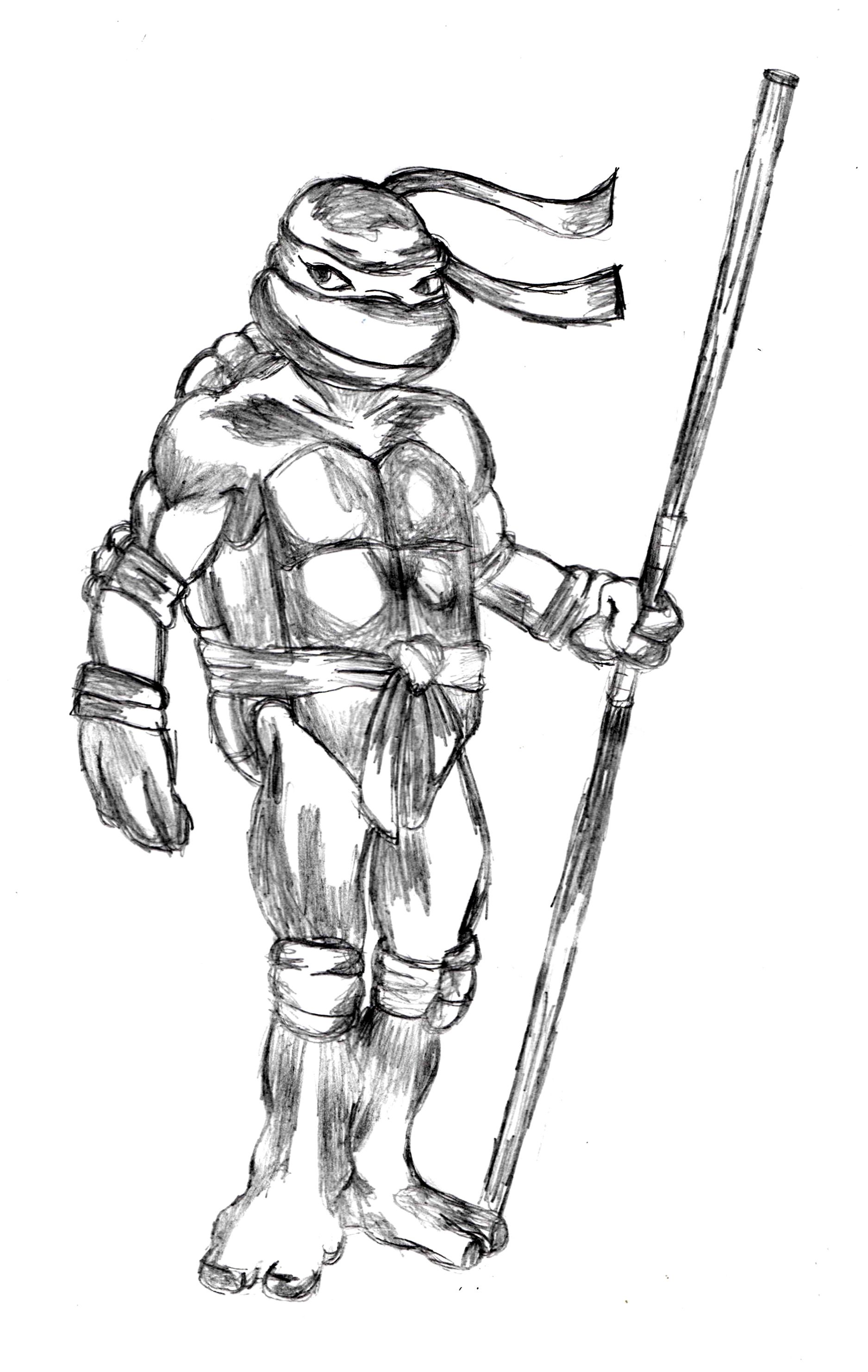 donatello sketch httpdrawingmanualscommanualhow to ninja turtle