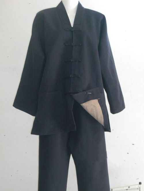 Double Material Warm Coat, Black, Navy Blue or White