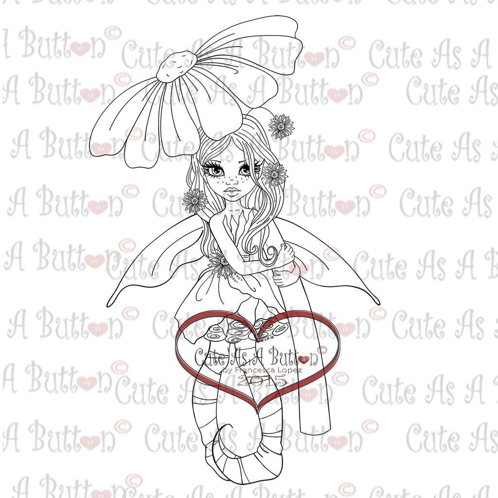 Img Sunflower Fairy Digital Digi Stamp