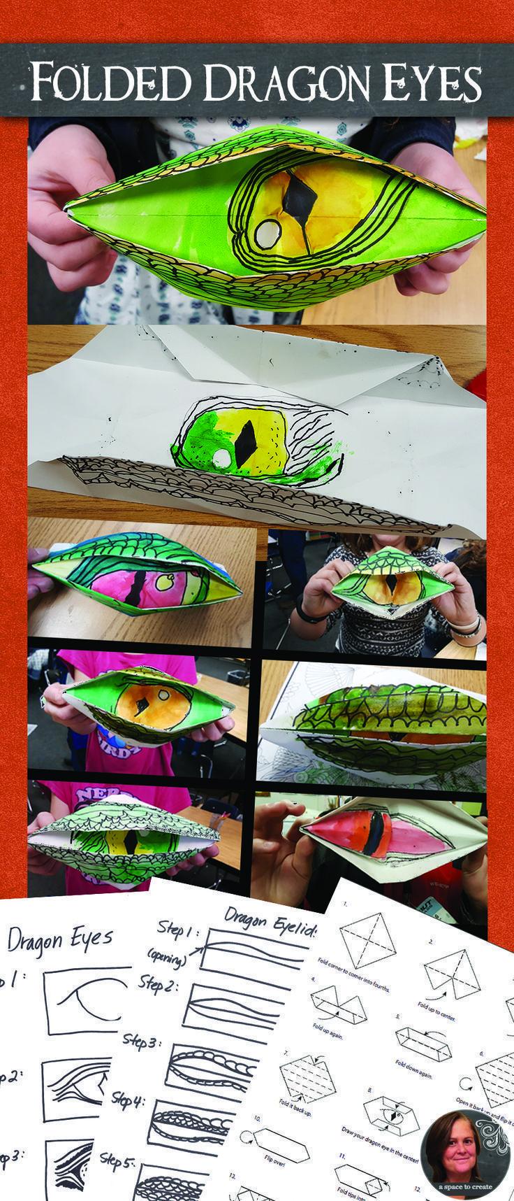 Folded dragon eyes art lesson dragon origami art lesson dragon folded dragon eyes art lesson dragon origami art lesson dragon eyes origami dragon dragon eye and origami jeuxipadfo Choice Image