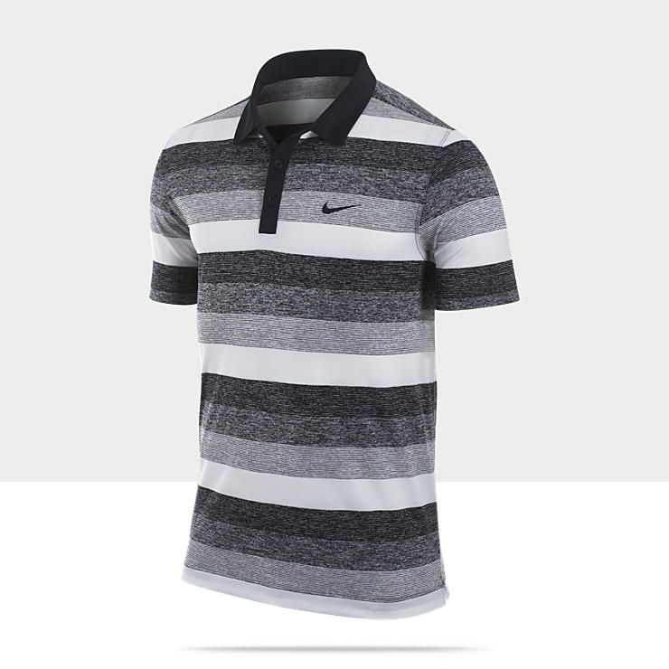 Nike dri fit modern stripe men 39 s golf polo golf Modern fit golf shirt