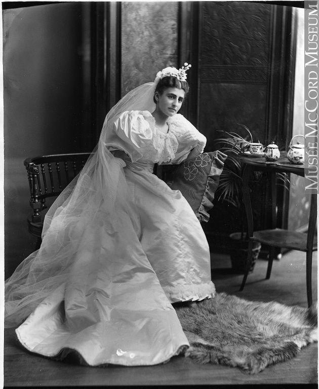 Mrs. Davis, Montreal, QC, 1894 Silver Salts On Glass