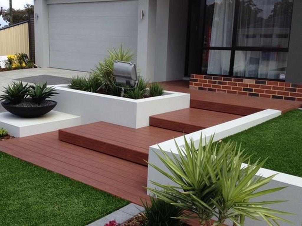 20+ Modern Wooden Walkways Designs In Front Door | Front ...