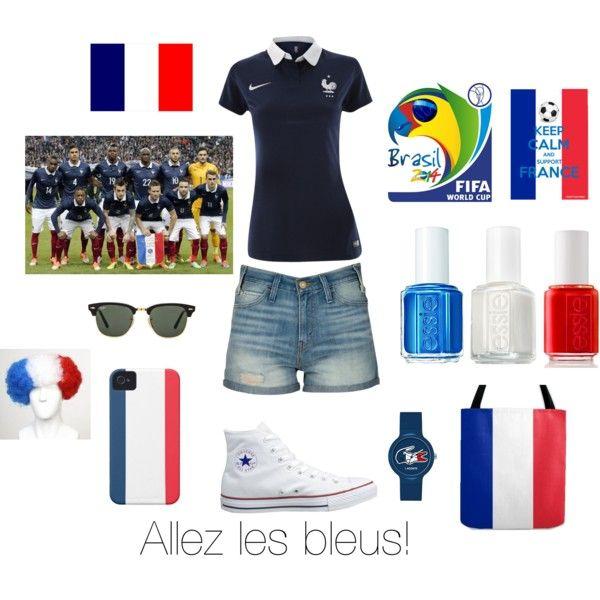 """""""Allez les bleus!"""" by alinebrehier on Polyvore"""