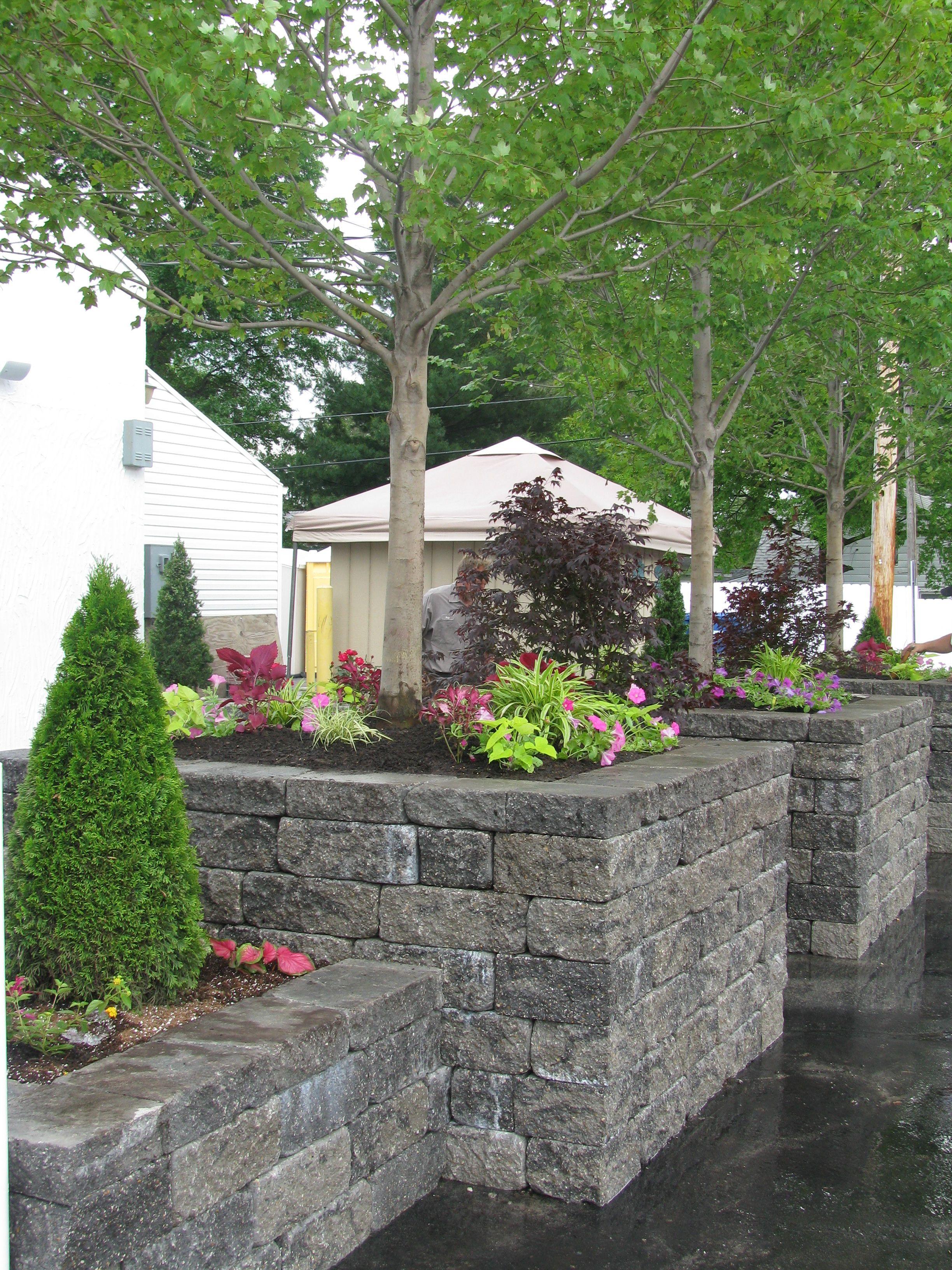 Versa Lockk Block Planter Boxes Hardscape Landscape Architecture Yard Service