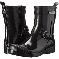 Womens Boots COACH Lester Black Shiny Rubber