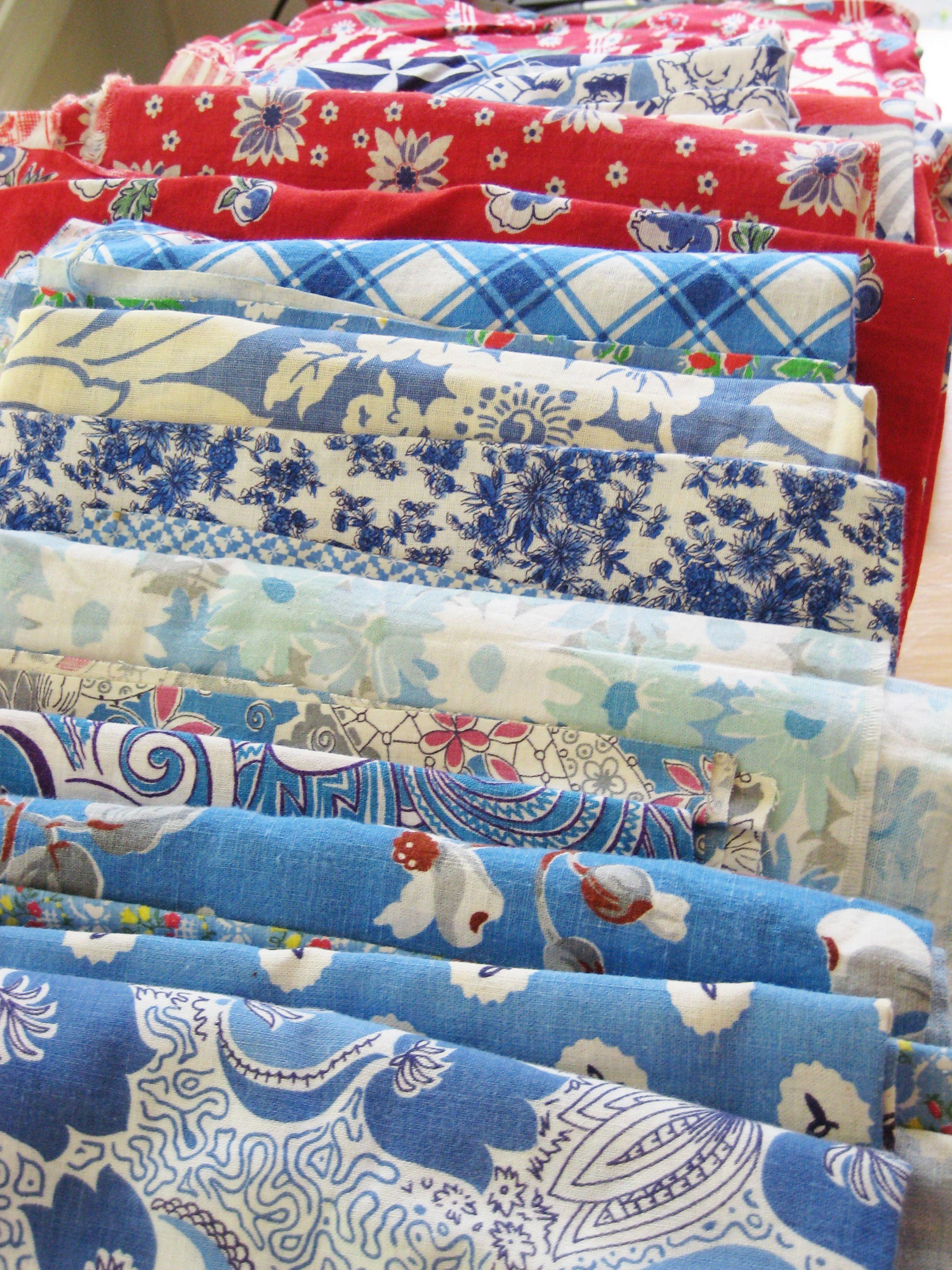 Vintage feedsack fabric