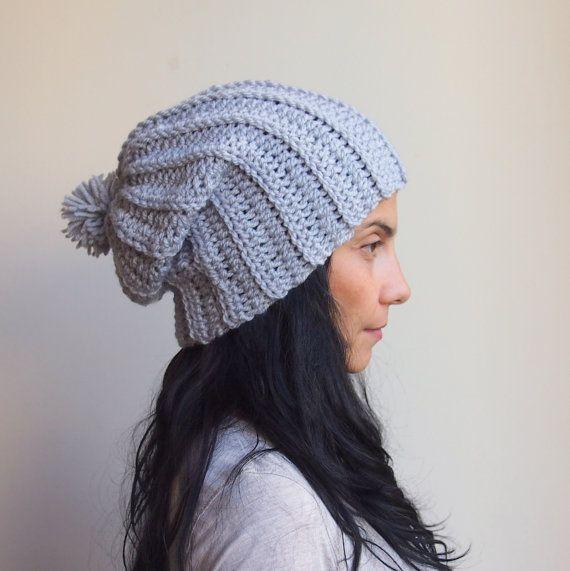Pdf Crochet Pattern Chunky Slouchy Pom Poom Hat By Byaccessorise