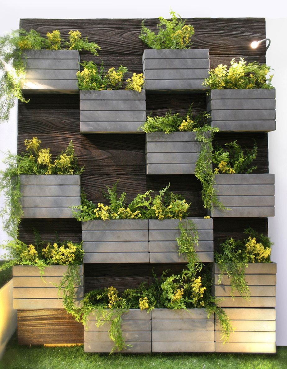 Canyon living wall planter made from compoclay an eco