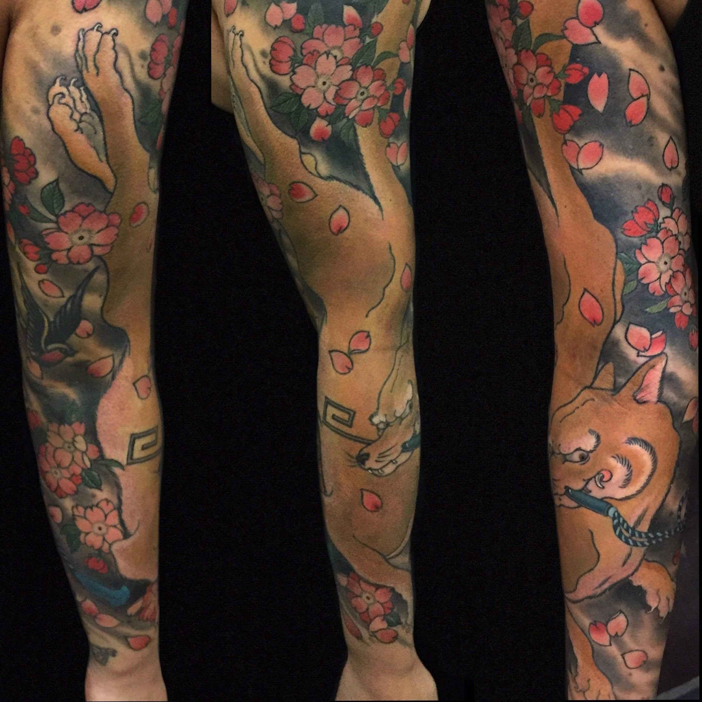 Traditional Kitsune Tattoo: Kitsune (fox) Sleeve. Japanese Style Tattoos By Cindy
