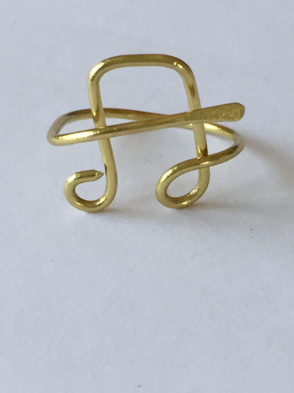 Gold Plated Music Notes Adjustable Wire Ring by GiftsbyKarenM on ...