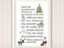"""A4 Print """"Fröhliche Weihnachten"""""""