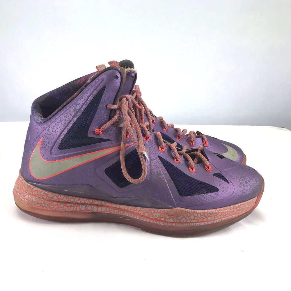 finest selection 31a91 831c7 Nike Lebron X All Star Sz 11.5 Area 72 Galaxy Laser Purple 583108-500  Nike   BasketballShoes