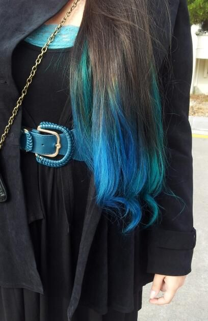 Tagged with #manicpanic on Tumblr. Dip dye is stunning on long hair!