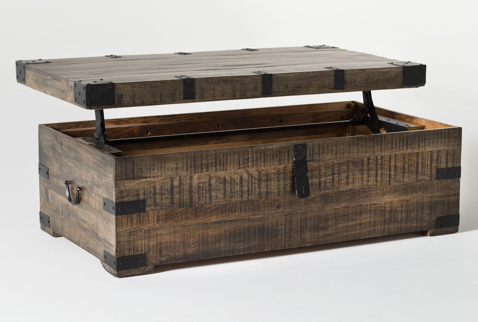 Wally Lift Top Trunk Coffee Table Coffee Table Trunk Coffee Table Living Spaces Coffee Table [ 1288 x 1911 Pixel ]