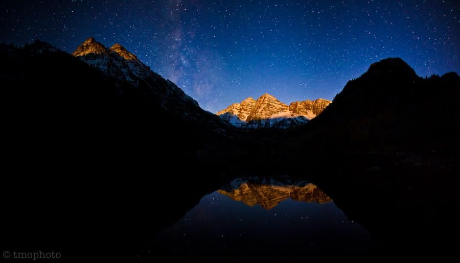 moonrise at the maroon bells - Pixdaus