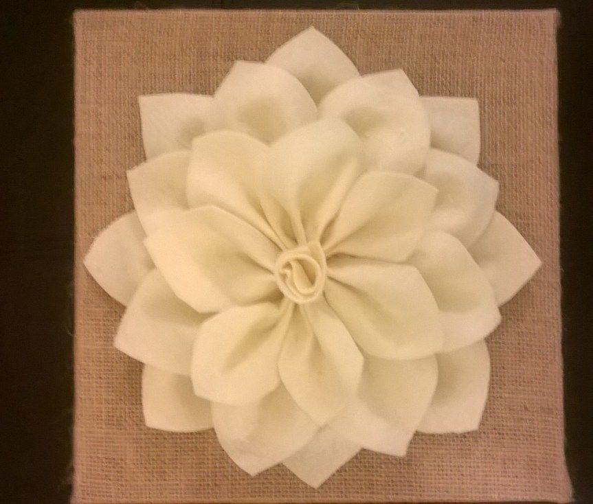 DIY Felt Flower Wall Art Tutorial...No Measuring Required! Make your ...