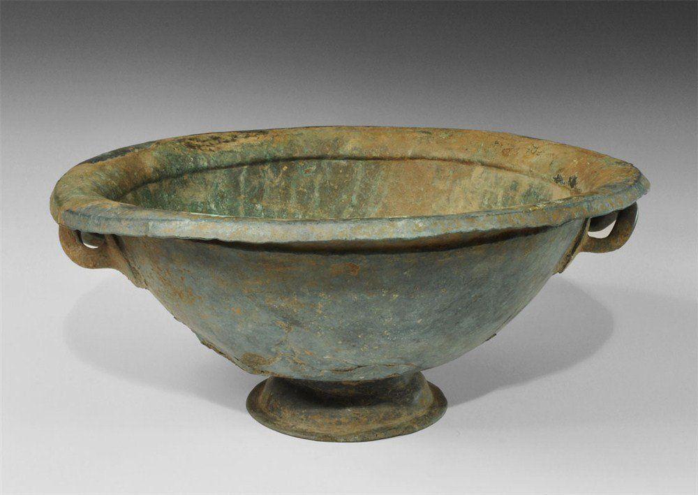Greek Large Bronze Bowl With Handles Mar 15 2013 Timeline Auctions Ltd In United Kingdom Bowl Bronze Greek
