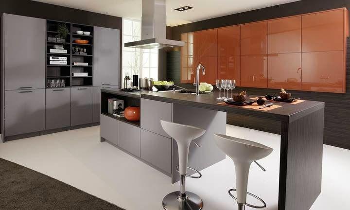 cuisine avec ilot central Image prise sur le site