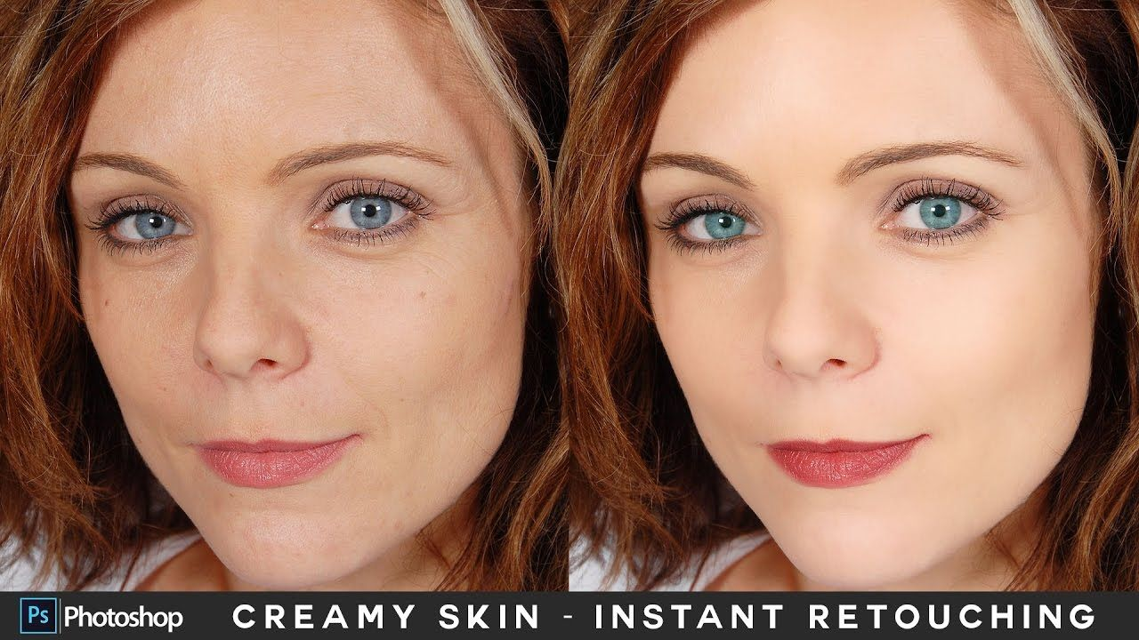 Adobe Video tutorial Instant Face Retouching in Photoshop  Creamy