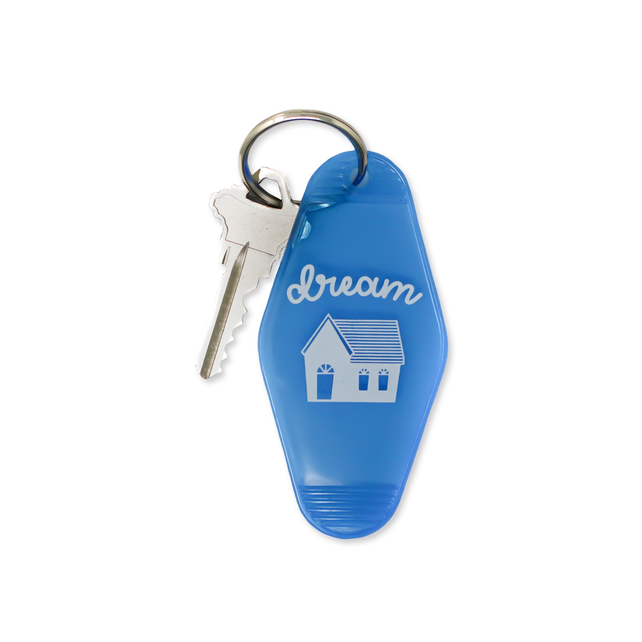 Dream House Key Tag Transparent Blue Blue Keychain Key Tags Red Keychain