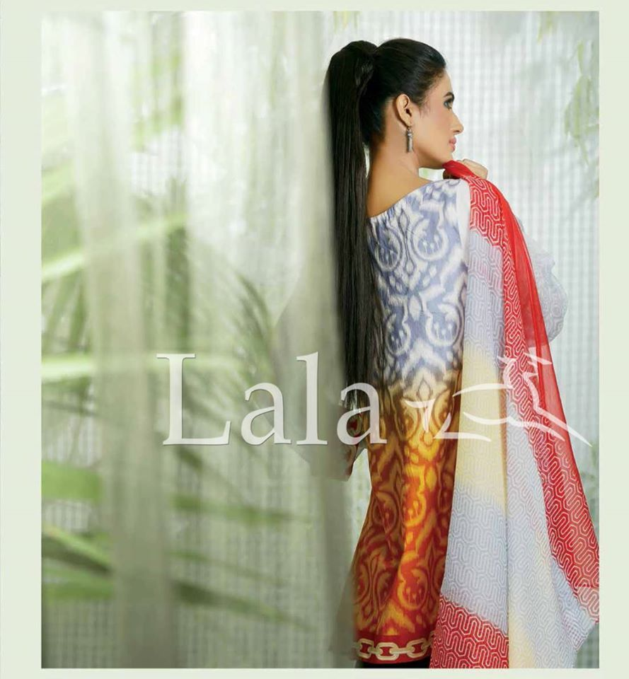 Lala Fashion Designer  Lawn Collection 2015For Modern Girls (3)