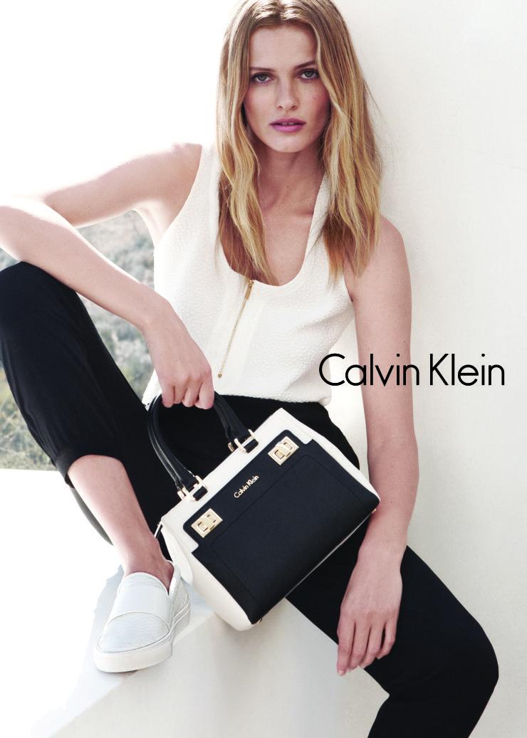 Edita Vilkeviciute by Daniel Jackson for Calvin Klein White Label Spring Summer 2015