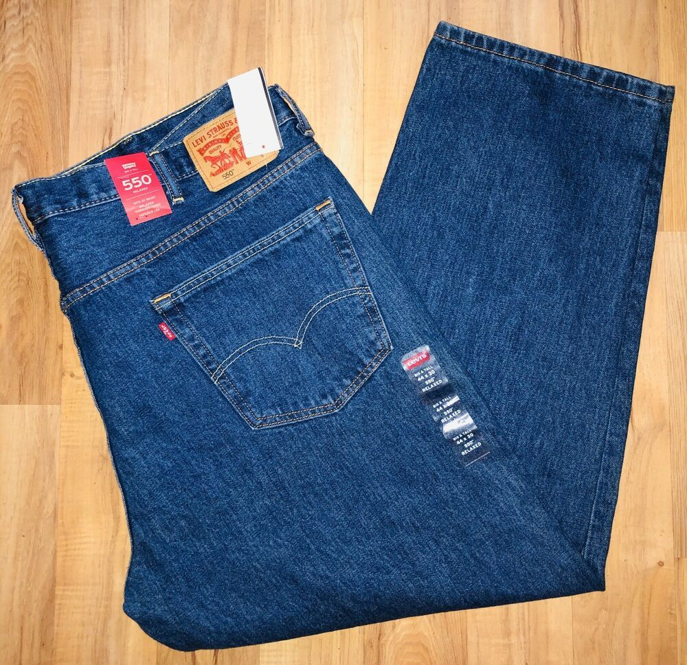 Levis 550 relaxed fit big tall mens 44x30 brand new