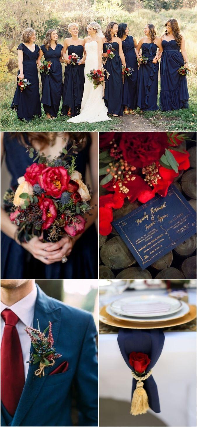 Top 10 Navy Blue Wedding Color Combo Ideas for 2019  Blue Weddings  Burgundy wedding colors