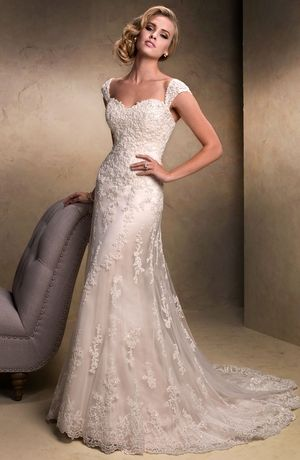 Maggie Sottero - Sweetheart A-Line Gown in Lace | dresses ...