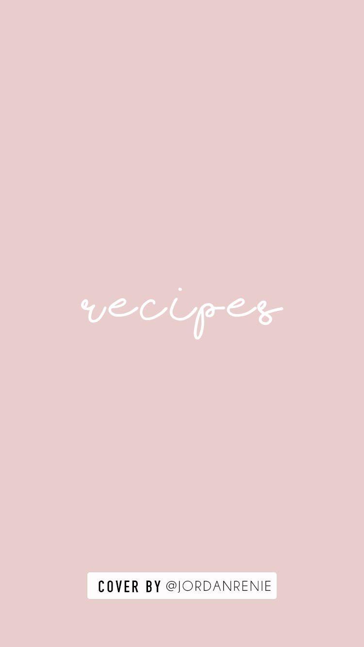 Instagram Story Cover Recipes Instagram Highlight Icons Instagram Icons Instagram Story