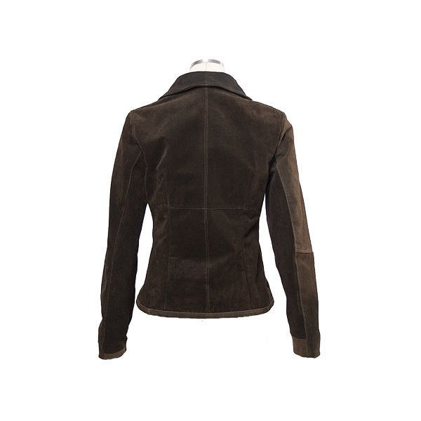 Enjoy 30 Brown Upcycled Suede Jacket Semi Adjusted With Zipper for... ($83) ❤ liked on Polyvore featuring outerwear, jackets, grey, women's clothing, zip jacket, gray suede jacket, brown suede jacket, brown jacket e lined jacket