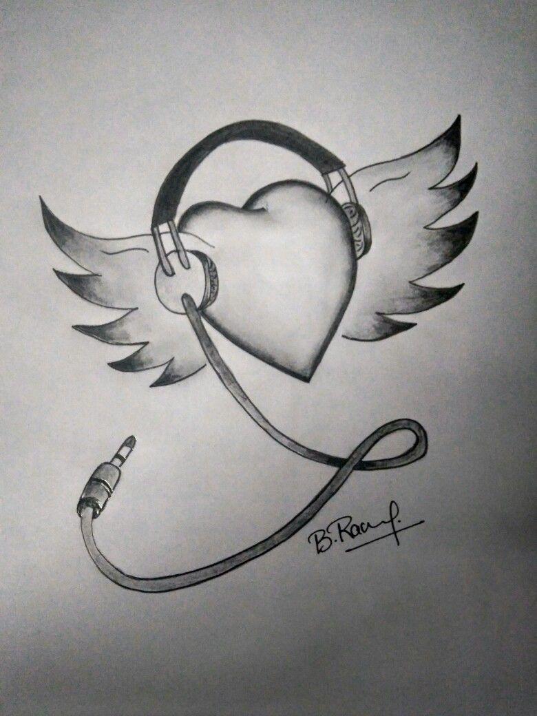 Music Heart Com Imagens Desenhos Faceis Desenhos A Lapis