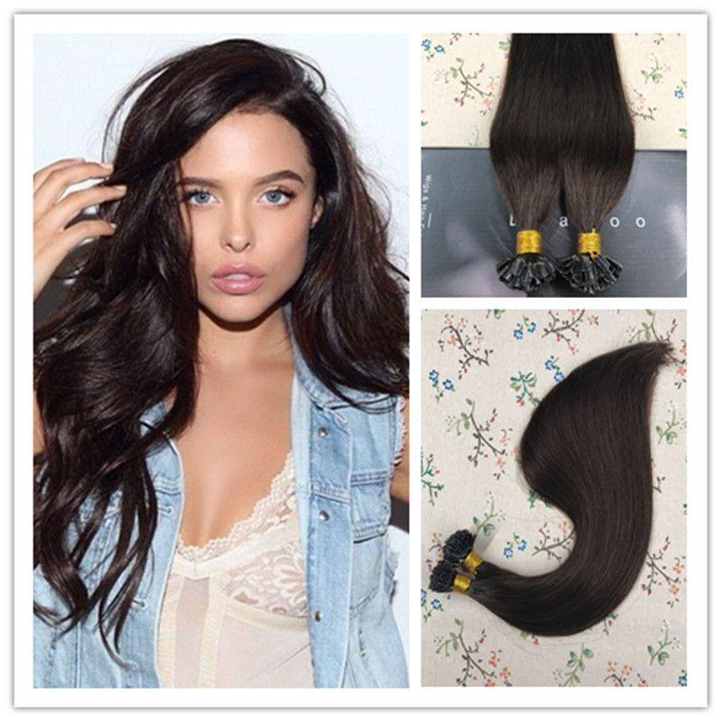 U Tip Keratin Pre Bonded Fusion Remy Human Hair Extensions 2