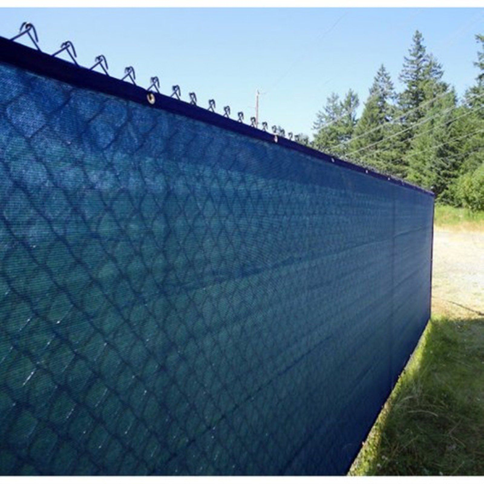 Aleko 5 X 50 Ft Privacy Screen Fencing Blue Privacy Screen