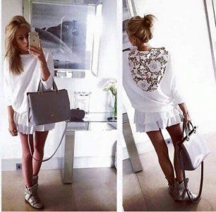 O N E Elegancka Bluzka Koronka Plecy Hit 6097422776 Oficjalne Archiwum Allegro Dresses With Sleeves Long Sleeve Dress Fashion