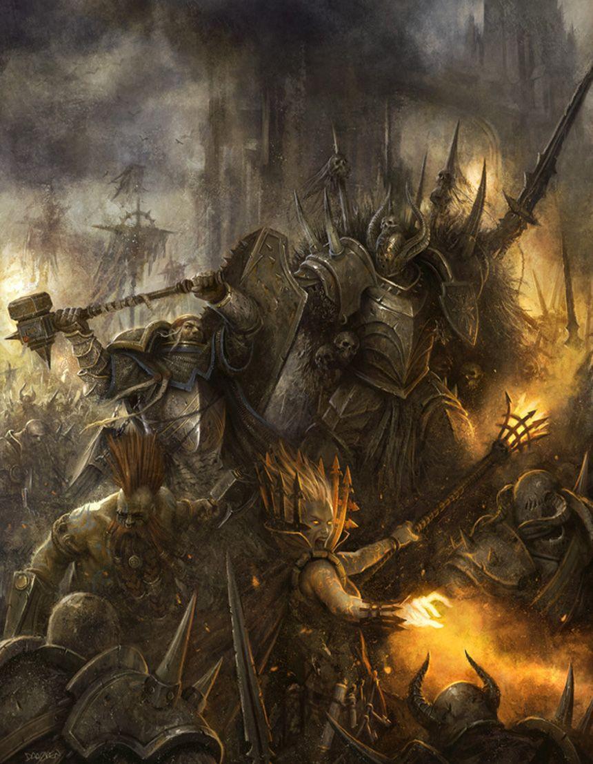 Pin Von Collin Owen Auf Illustrations Warhammer Fantasy Bildteppich Kriegshammer