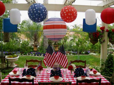 4th of July table.