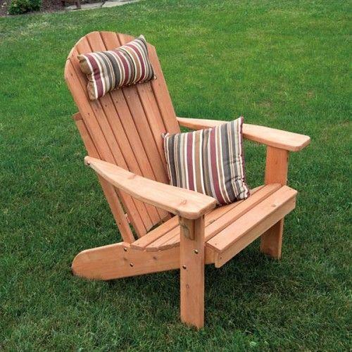 **A&L Furniture Co. Fanback Red Cedar Adirondack Chair - 667C